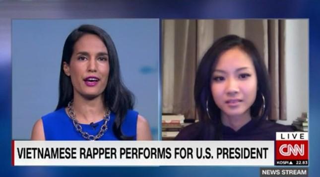 Phóng viên CNN đề nghị Suboi chấm điểm màn beatbox của Obama - ảnh 1