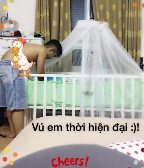Những ông bố chăm con khéo nhất showbiz Việt - ảnh 6