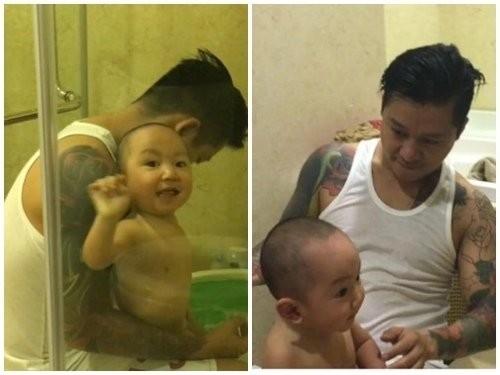 Những ông bố chăm con khéo nhất showbiz Việt - ảnh 8