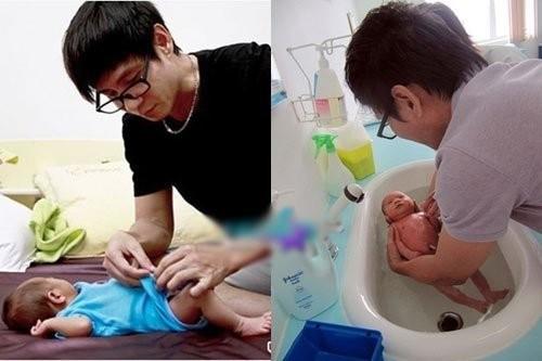 Những ông bố chăm con khéo nhất showbiz Việt - ảnh 3