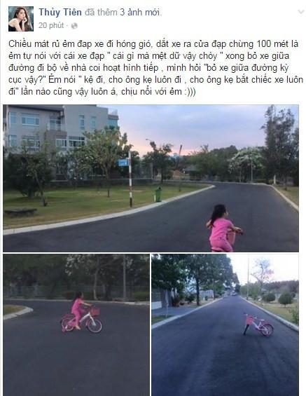 Thủy Tiên bị chỉ trích vì để con gái vứt bỏ xe giữa đường - ảnh 2