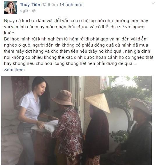 Đang đi từ thiện, Thủy Tiên phản ứng 'lạ' khi bị gọi là con quỷ - ảnh 3