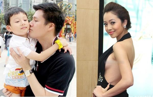 Quang Dũng chăm bẵm con trai mặc 'vợ cũ' Jennifer Phạm thất hứa - ảnh 1
