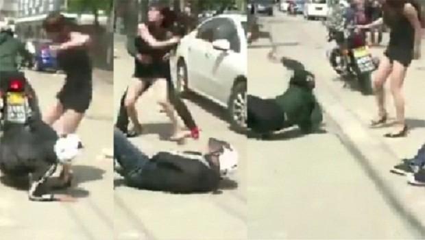 Clip người đẹp hạ gục hai tên cướp khiến dân mạng thích thú - ảnh 3