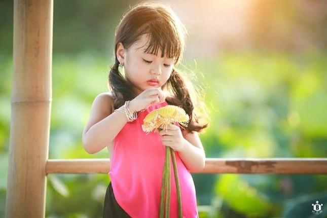 Bé gần 3,5 tuổi chụp ảnh bên sen 'đốn tim' cư dân mạng - ảnh 3