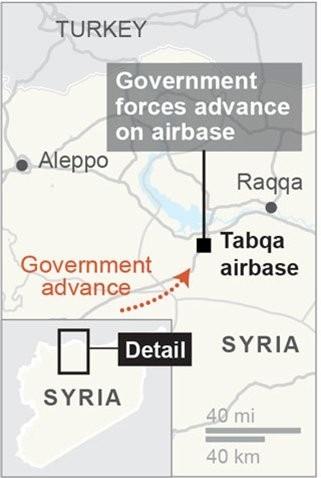 Syria tiến công giành thị trấn chiến lược từ IS - ảnh 2