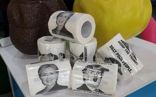 Công ty Trung Quốc kiếm bộn từ giấy vệ sinh Donald Trump - ảnh 1