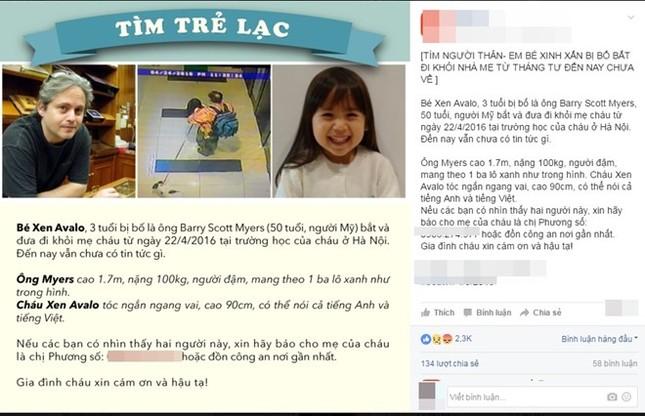 Mẹ tìm thấy con gái mất tích hơn một tháng nhờ dân mạng - ảnh 1