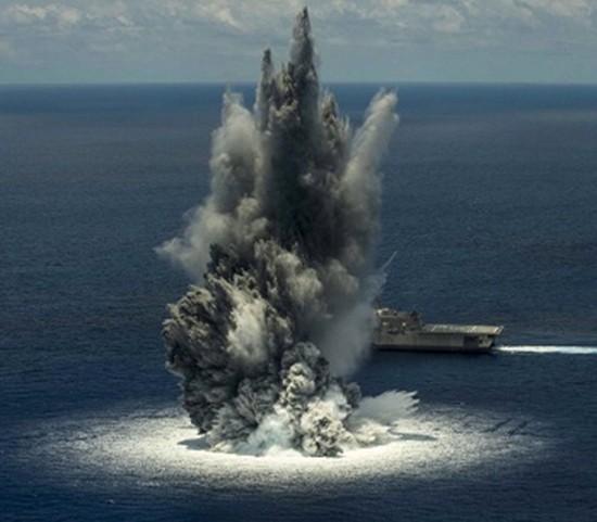 Hải quân Mỹ thử nghiệm vũ khí gây động đất - ảnh 1