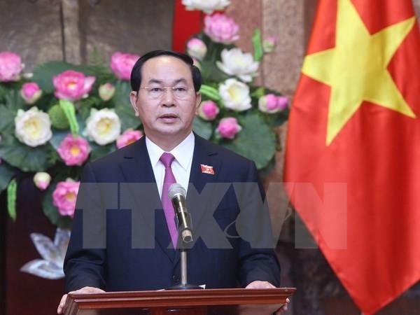 Chủ tịch nước Trần Đại Quang trả lời phỏng vấn báo chí - ảnh 1