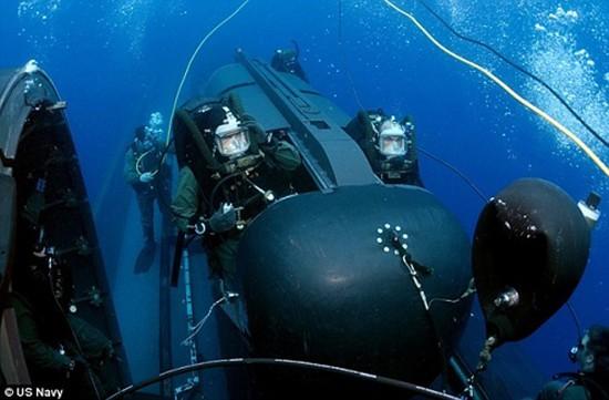 'Tàu ngầm tên lửa' chuyên chở người nhái của Mỹ - ảnh 1