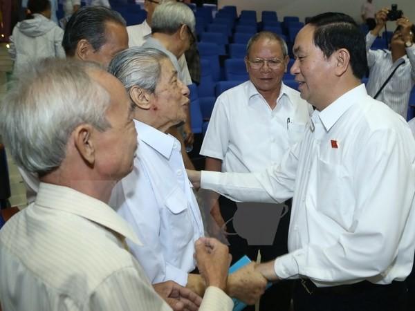 Chủ tịch nước Trần Đại Quang tiếp xúc cử tri TP. Hồ Chí Minh - ảnh 1