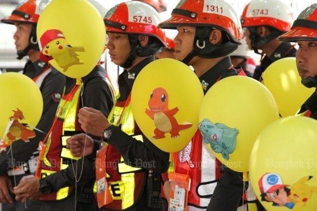Cảnh sát sẽ bắt người chơi Pokemon Go trên đường phố Bangkok - ảnh 1