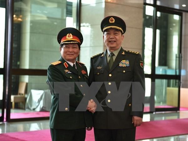 Đoàn đại biểu quân sự cấp cao Việt Nam thăm chính thức Trung Quốc - ảnh 1