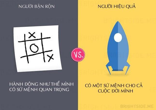 13 khác biệt giữa người bận rộn và người hiệu quả - ảnh 1