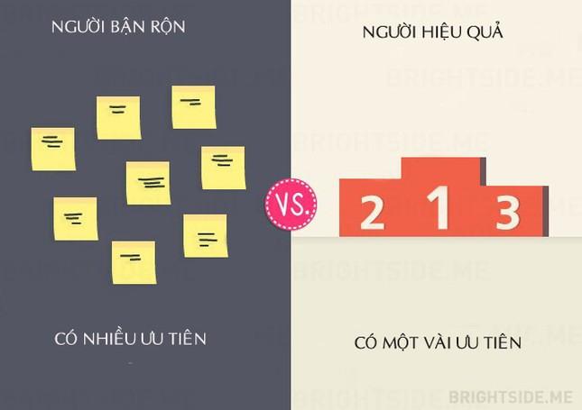 13 khác biệt giữa người bận rộn và người hiệu quả - ảnh 2