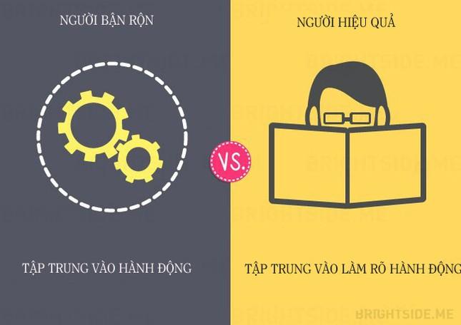13 khác biệt giữa người bận rộn và người hiệu quả - ảnh 4