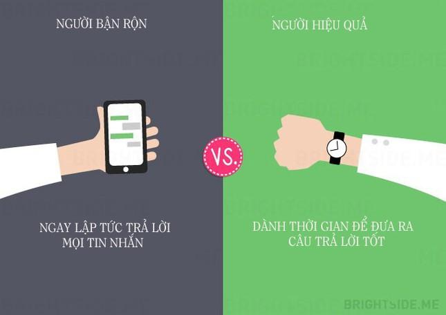 13 khác biệt giữa người bận rộn và người hiệu quả - ảnh 6