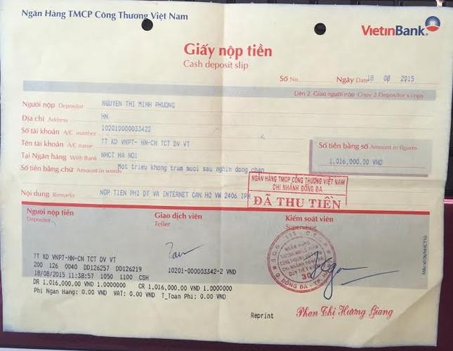 Nộp phí đầy đủ, khách hàng vẫn bị VNPT tự ý cắt dịch vụ? - anh 1