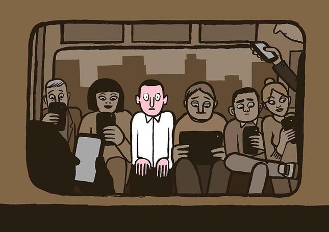 Giật mình trước bộ ảnh con người đang trở thành nô lệ của công nghệ - ảnh 1