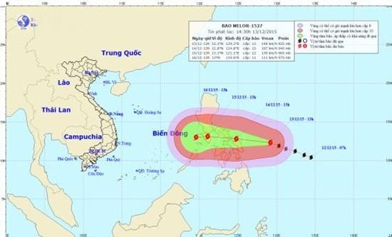 Tin mới nhất về cơn bão Melor hoạt động gần Biển Đông - ảnh 1