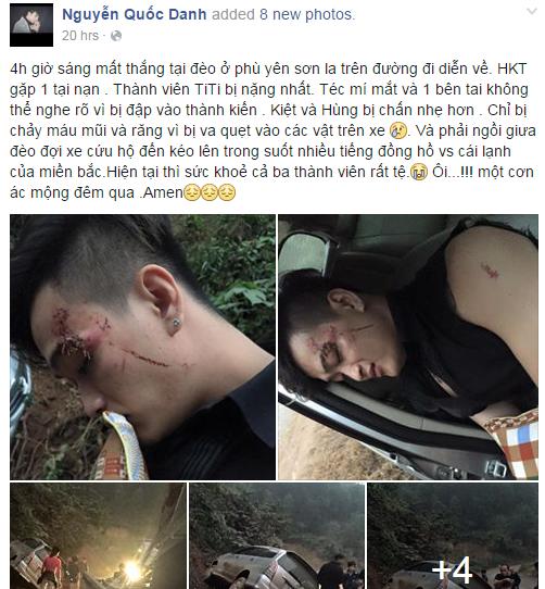 Nhóm HKT bị tai nạn nghiêm trọng tại Sơn La - ảnh 1