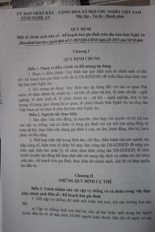 Nghệ An: Xóa quy định xử phạt người sinh con thứ 3 - ảnh 3