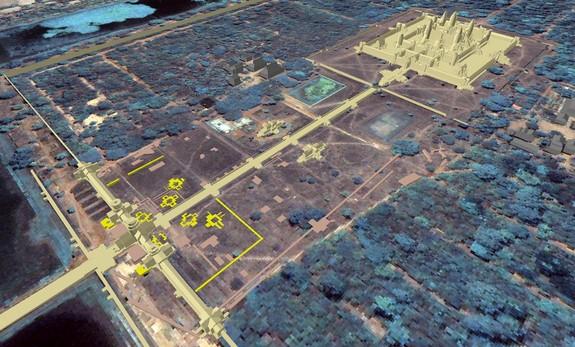 Phát hiện 8 tòa tháp bí ẩn bị chôn vùi ở đền Angkor Wat - ảnh 2