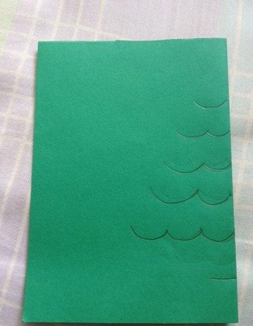 Cách làm 4 mẫu thiệp giáng sinh hình cây thông siêu dễ thương  - ảnh 3