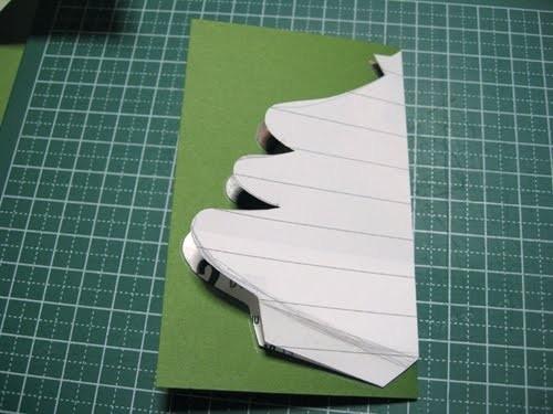 Cách làm 4 mẫu thiệp giáng sinh hình cây thông siêu dễ thương  - ảnh 10