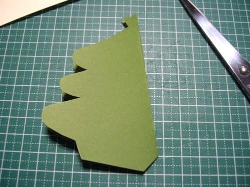 Cách làm 4 mẫu thiệp giáng sinh hình cây thông siêu dễ thương  - ảnh 11