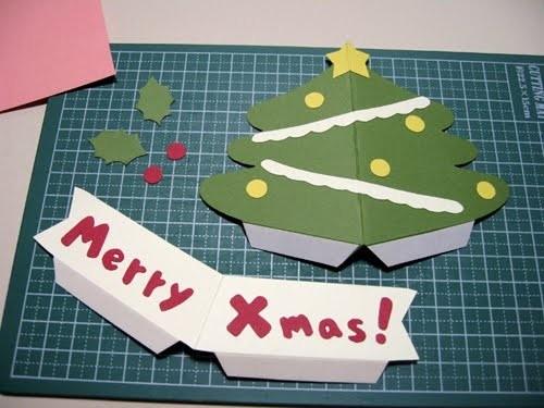 Cách làm 4 mẫu thiệp giáng sinh hình cây thông siêu dễ thương  - ảnh 19