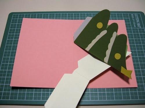Cách làm 4 mẫu thiệp giáng sinh hình cây thông siêu dễ thương  - ảnh 21