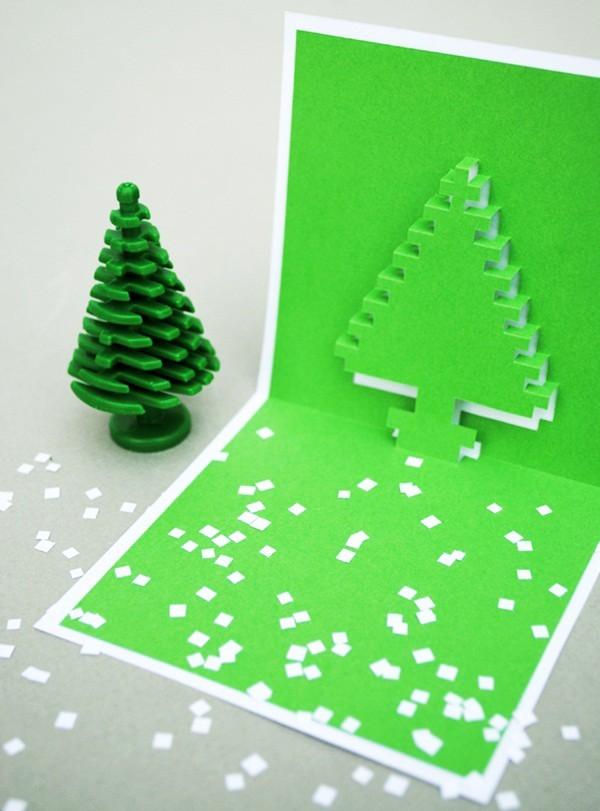 Cách làm 4 mẫu thiệp giáng sinh hình cây thông siêu dễ thương  - ảnh 5