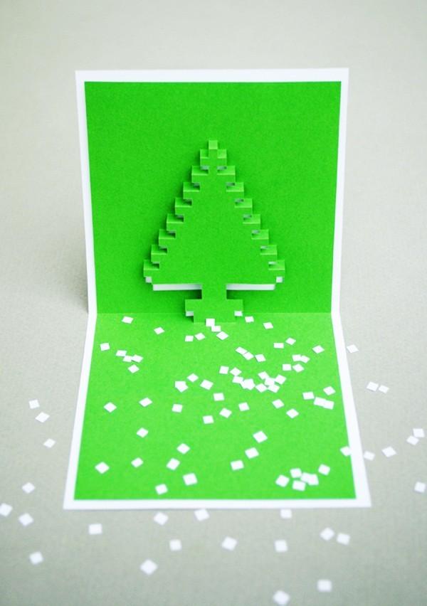Cách làm 4 mẫu thiệp giáng sinh hình cây thông siêu dễ thương  - ảnh 7
