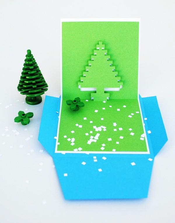 Cách làm 4 mẫu thiệp giáng sinh hình cây thông siêu dễ thương  - ảnh 8