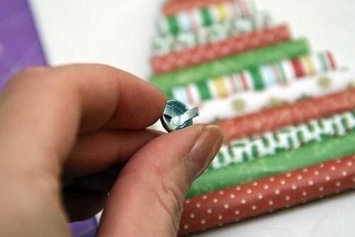 Cách làm 4 mẫu thiệp giáng sinh hình cây thông siêu dễ thương  - ảnh 31