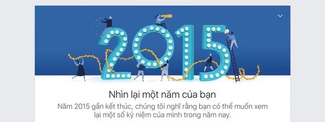 Tổng kết năm 2015 với tính năng Year in Review của Facebook - ảnh 1