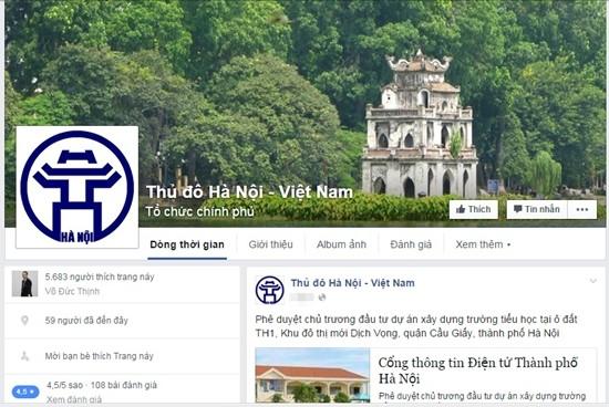 TP.Hà Nội chính thức cung cấp thông tin điều hành trên Facebook - ảnh 1