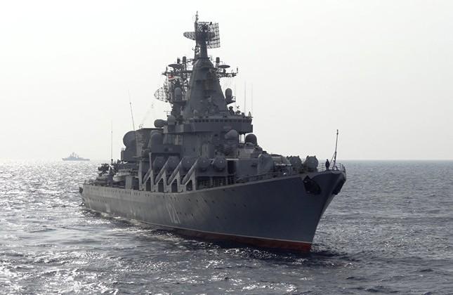Cận cảnh dàn vũ khí khủng trên tuần dương hạm Moskva tại Syria - ảnh 1