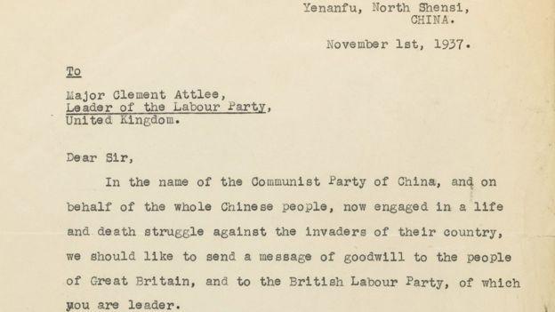 Thư của Mao Trạch Đông gửi chính trị gia Anh giá 1 triệu USD - ảnh 1