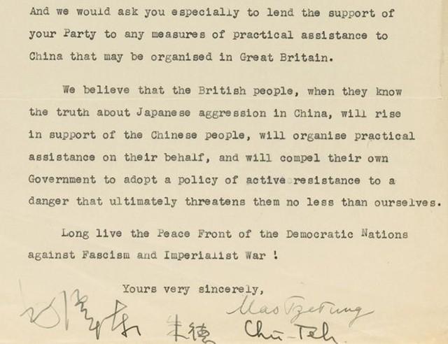 Thư của Mao Trạch Đông gửi chính trị gia Anh giá 1 triệu USD - ảnh 2