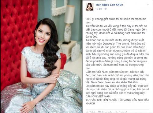 Lan Khuê khóc cạn nước mắt khi bị 'xử ép' tại Hoa hậu thế giới - ảnh 2