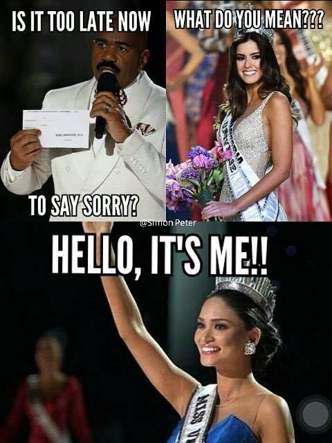 Cười bò loạt ảnh chế sự cố trao nhầm vương miện Hoa hậu hoàn vũ 2015 - ảnh 2