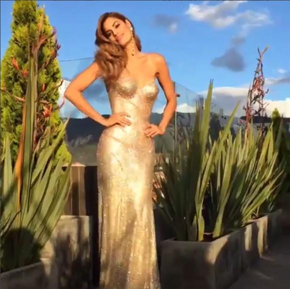 Hoa hậu Colombia xuất hiện rạng ngời xóa tan tin đồn tự tử - ảnh 1