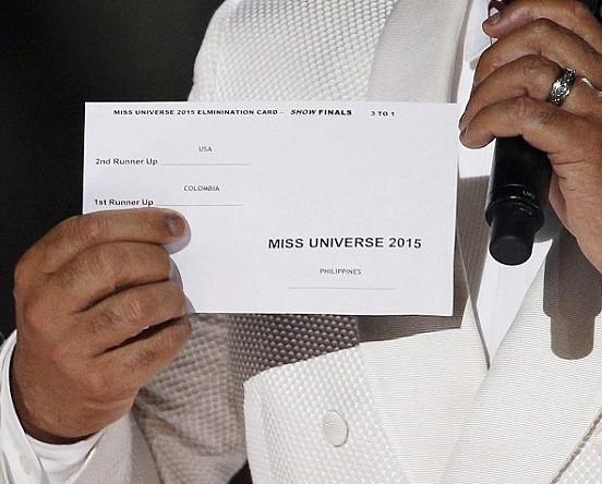 3 giả thiết trong sự cố đọc nhầm tên Hoa hậu Hoàn vũ 2015 - ảnh 2