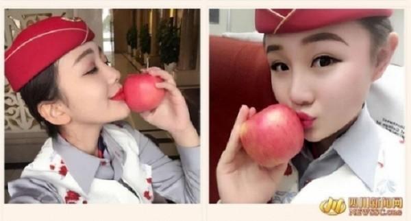 Nữ tiếp viên hàng không xinh đẹp 'gây bão' khi rao bán nụ hôn - ảnh 1