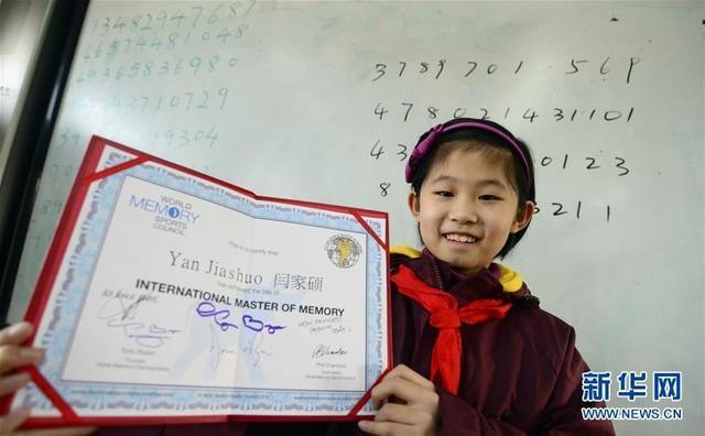 Trung Quốc: Bé gái 10 tuổi lập kỷ lục trí nhớ siêu phàm - ảnh 1