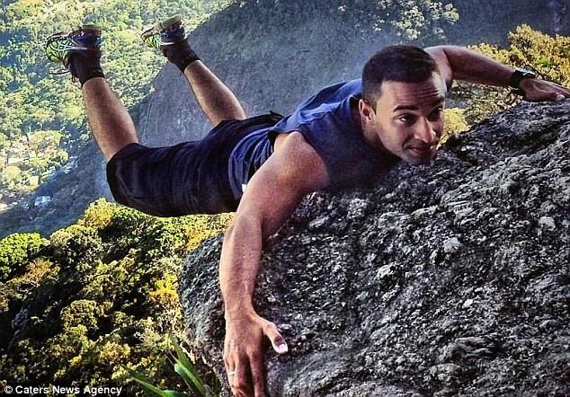 'Ngã ngửa' với sự thật sau bức ảnh chàng trai 'đu trên vách đá' - ảnh 5