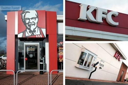 'Ông già Noel' đi cướp gà rán KFC - ảnh 1